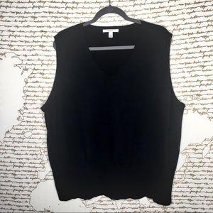 Merona 3x Black Sleeveless Sweater A16-12
